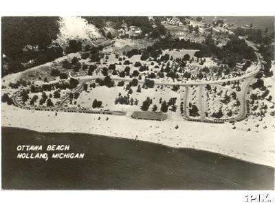 History-08-05- Ottawa Beach aerial PC circa 1940s