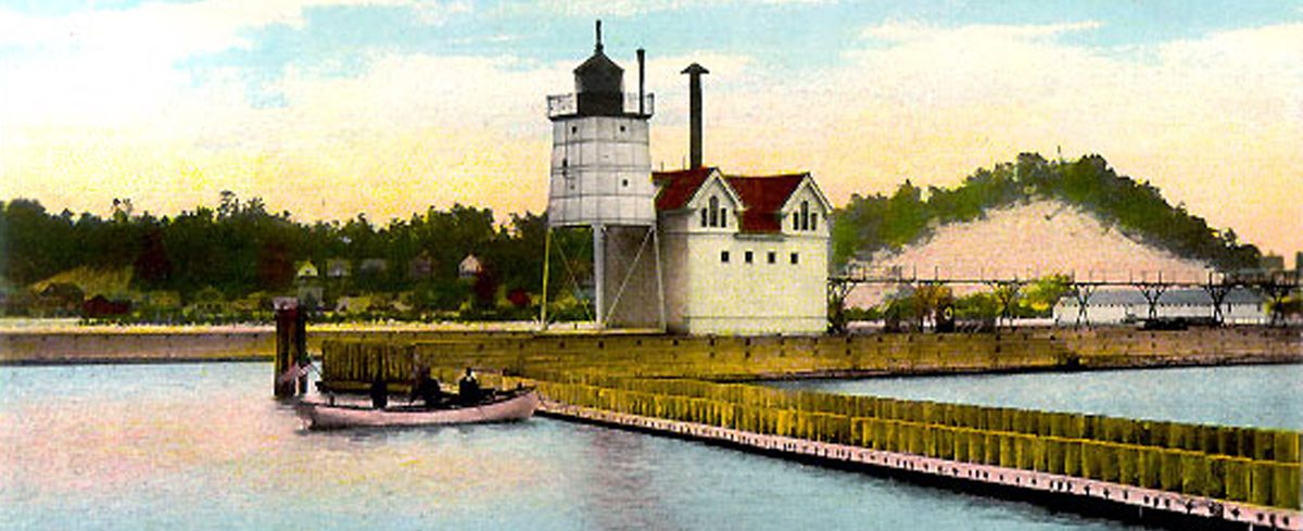 Holland's iconic Big Red Lighthouse began as a fog signal building next to the original light tower.